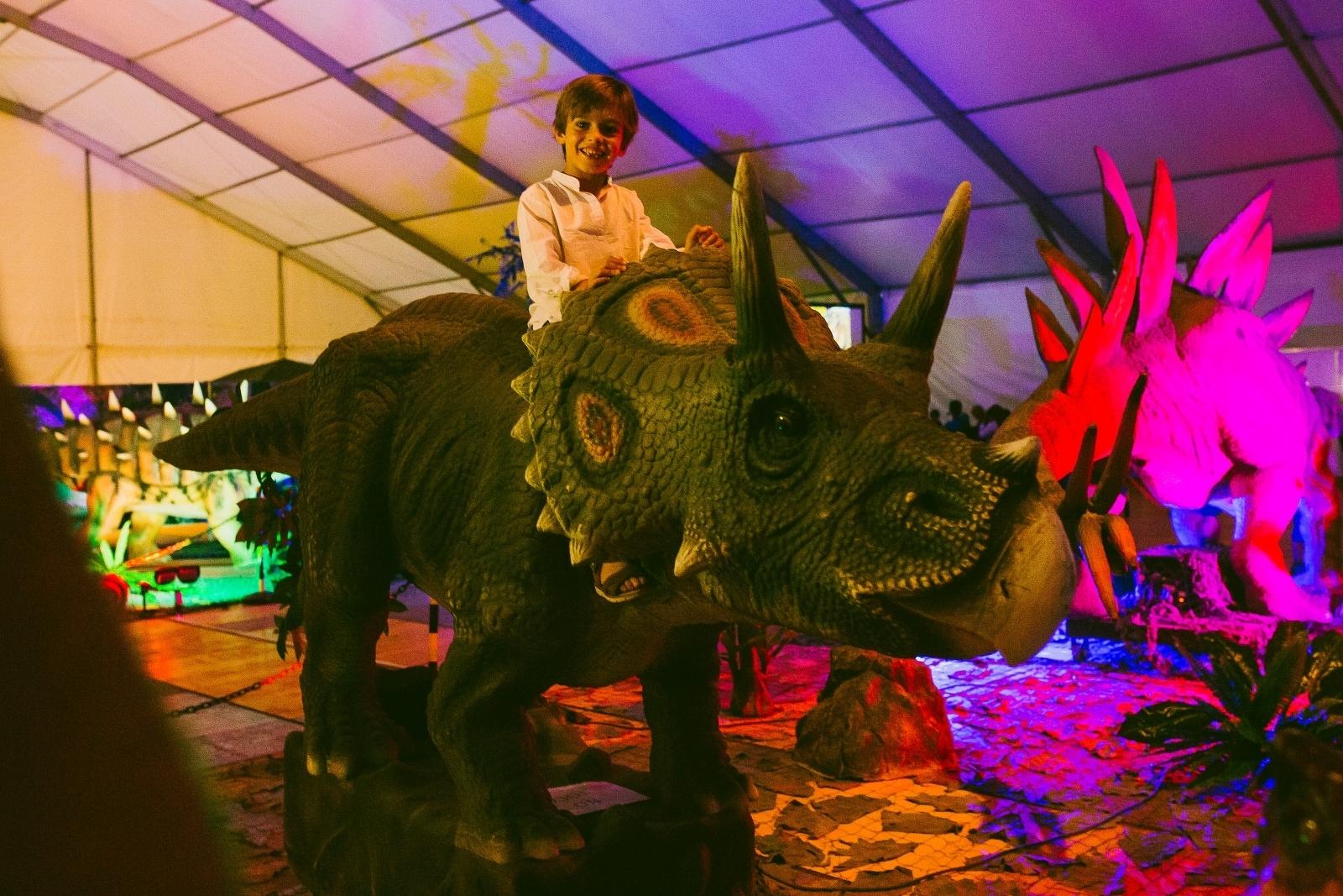 Una de les rèpliques de dinosaure que es poden veure a la mostra Dinosaurs Tour