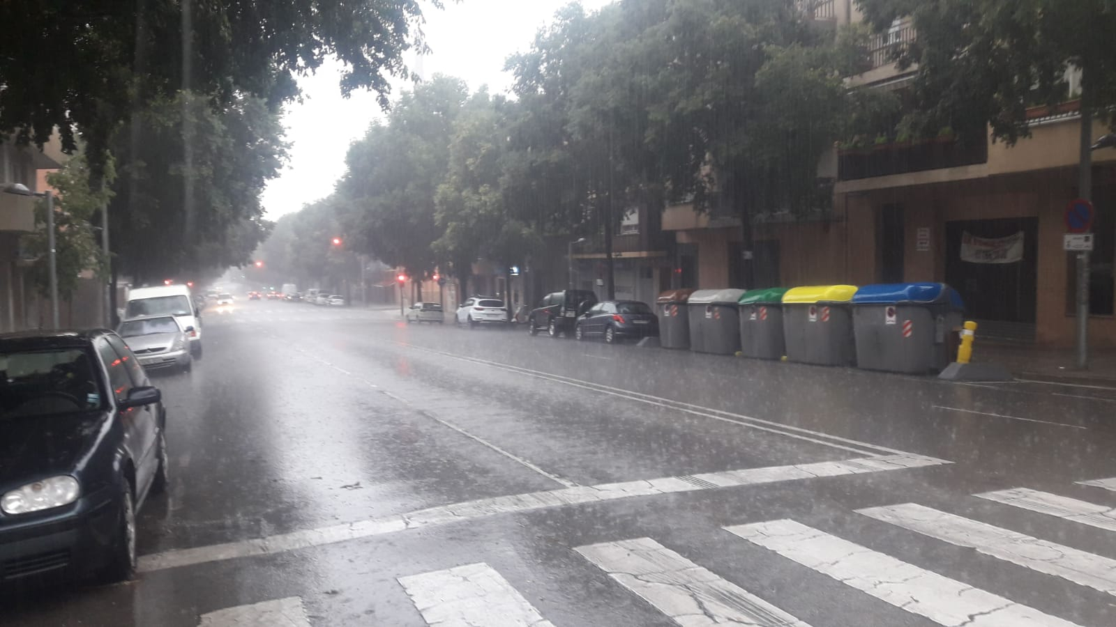 Intensitat de pluja aquest migdia a Terrassa