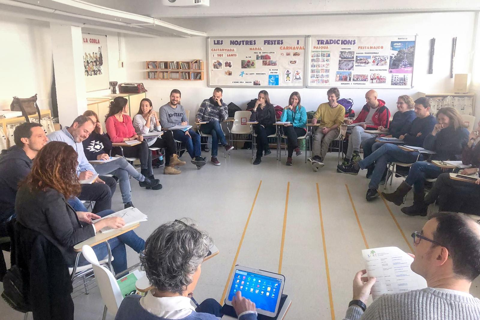 Reunió de la Xarxa d'Escoles per a la Sostenibilitat de Terrassa