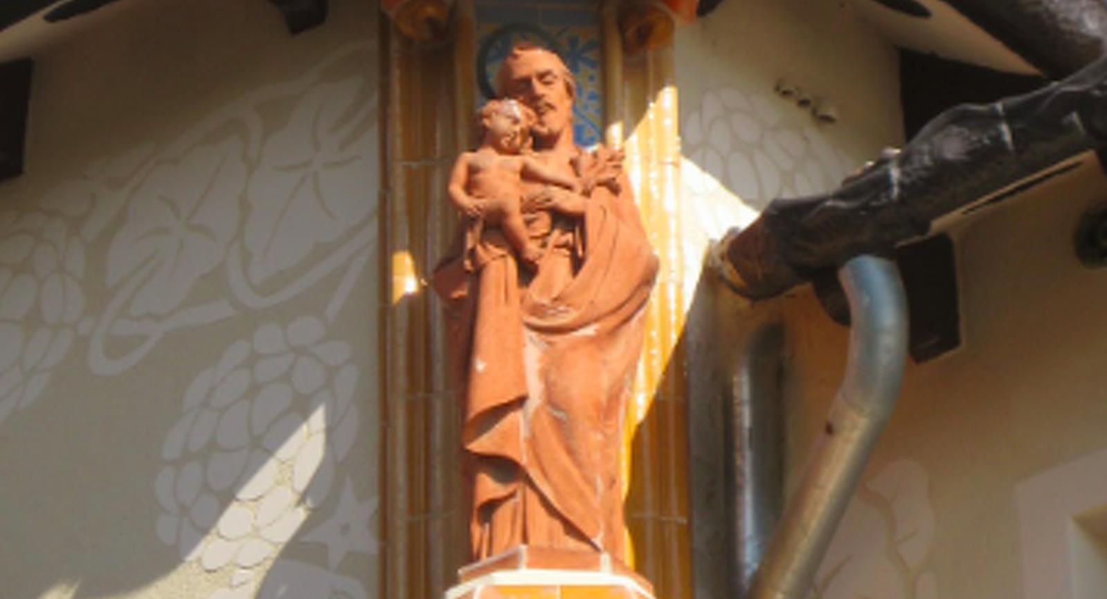 Primer pla del Sant Josep