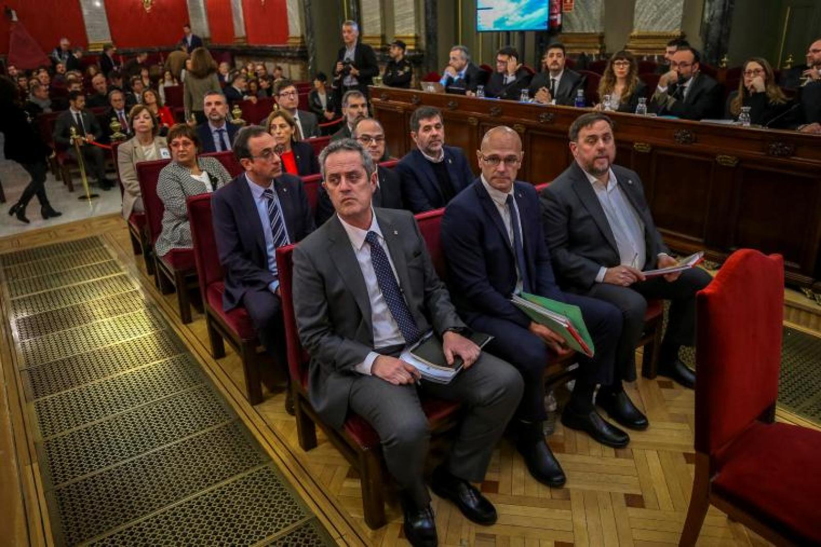 Els presos polítics al judici del Tribunal Suprem