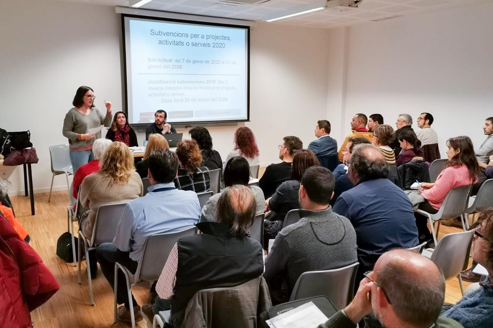 Sessió formativa sobre subvencions per a entitats