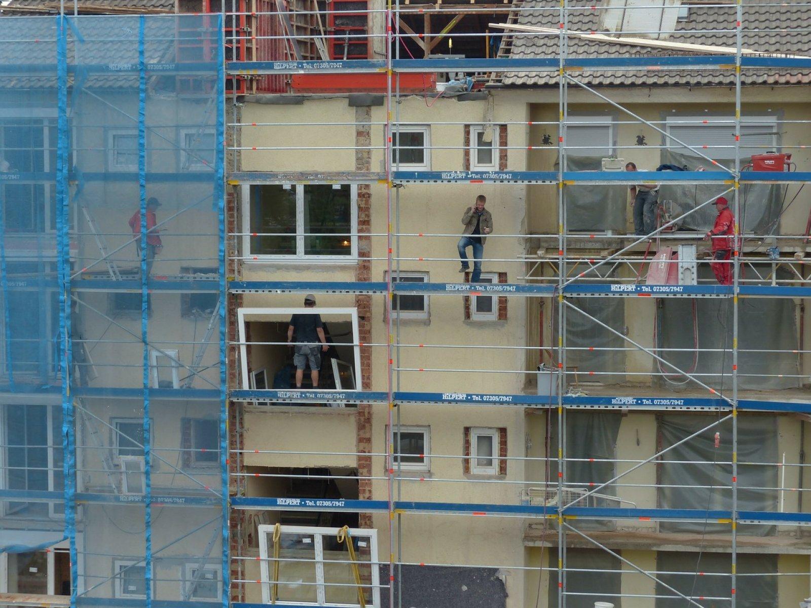 Treballs de construcció a Barcelona
