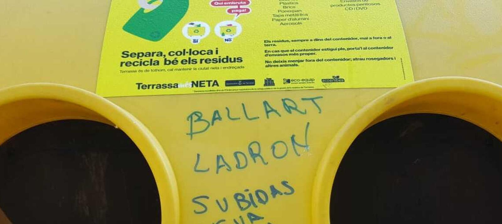 Pintada contra l'alcalde de Terrassa