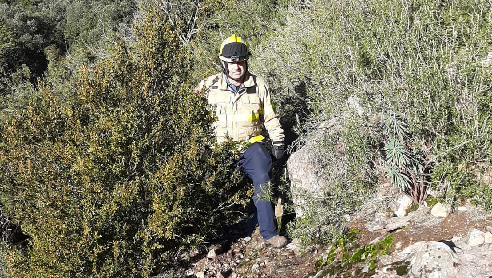 Un dels bombers que ha actuat en el rescat d'aquest diumenge