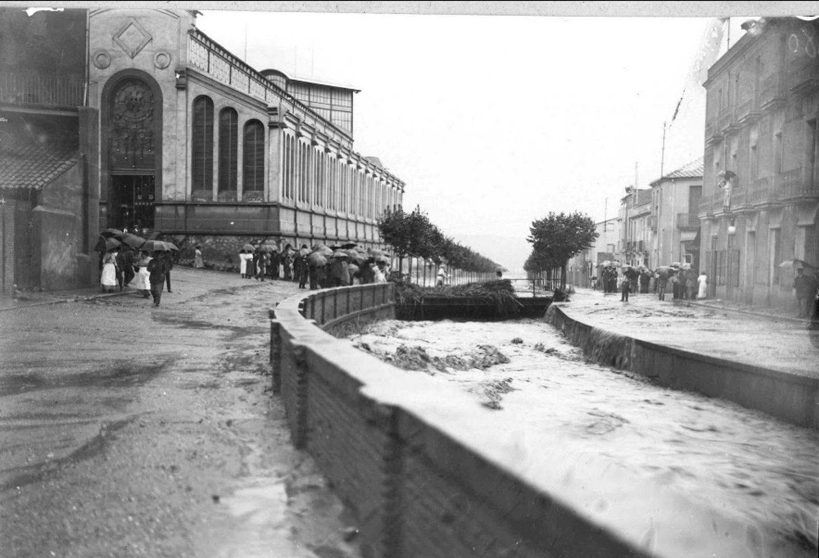 La Rambla de Terrassa, l'any 1913