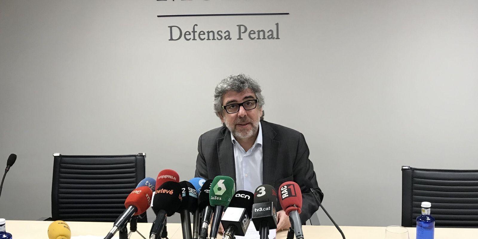 Jordi Pina, aquest migdia a les instal·lacions del seu despatx penal