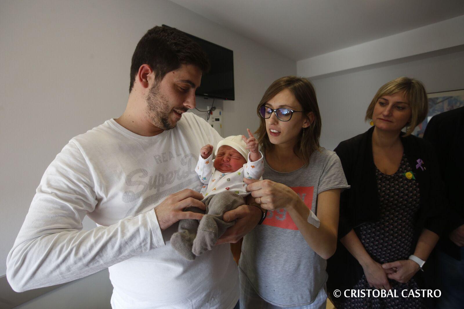 L'Aleix Puig, el primer nadó de Terrassa i Catalunya del 2020