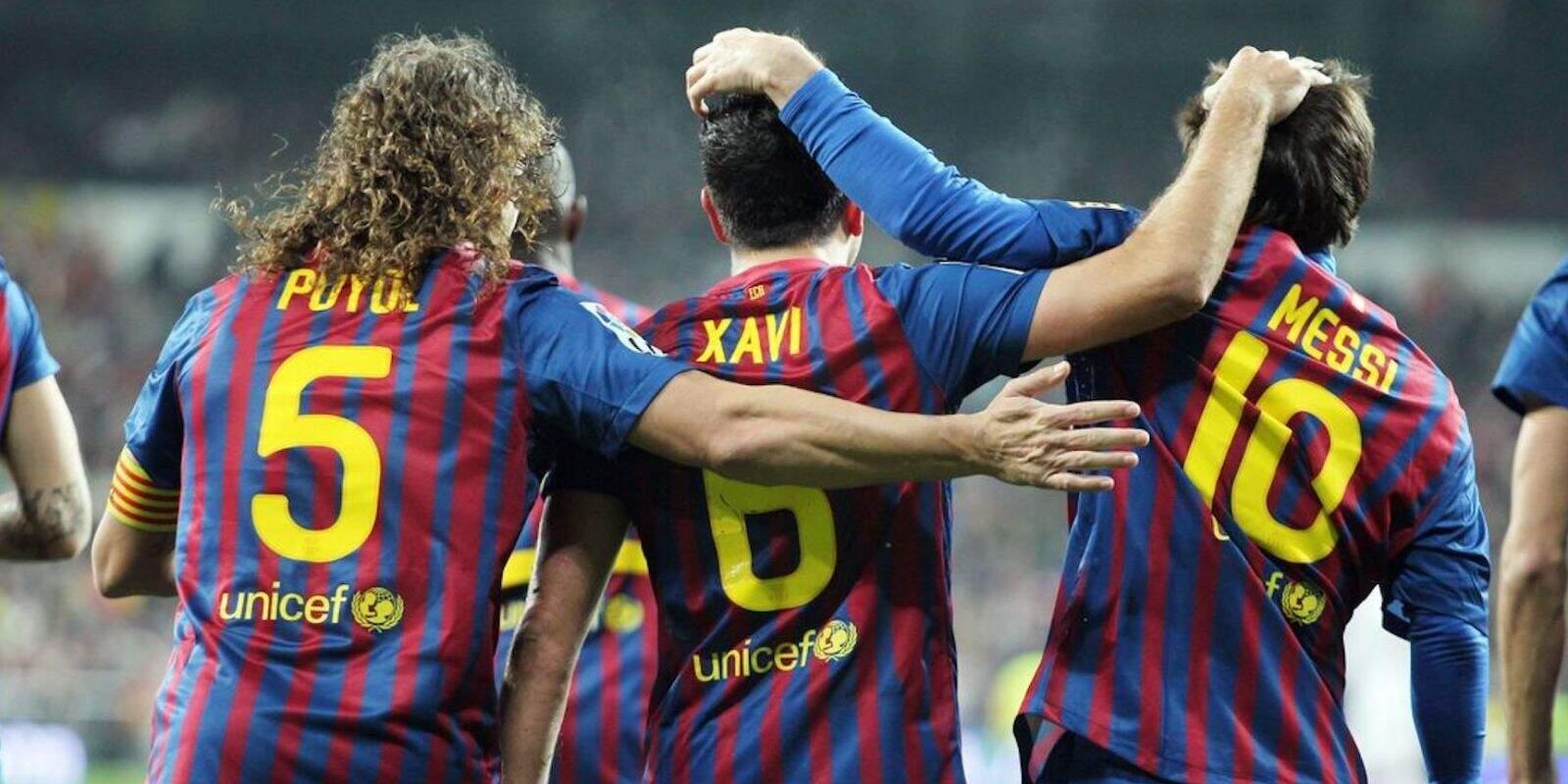 Puyol, Xavi i Messi, durant l'era Guardiola