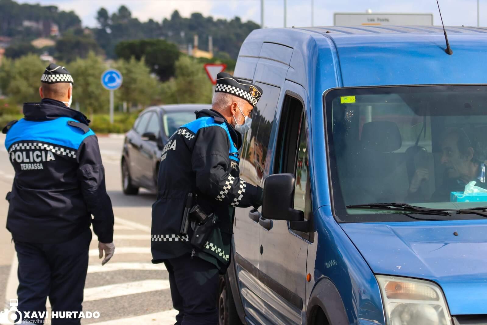 Control de la Policia Municipal de Terrassa