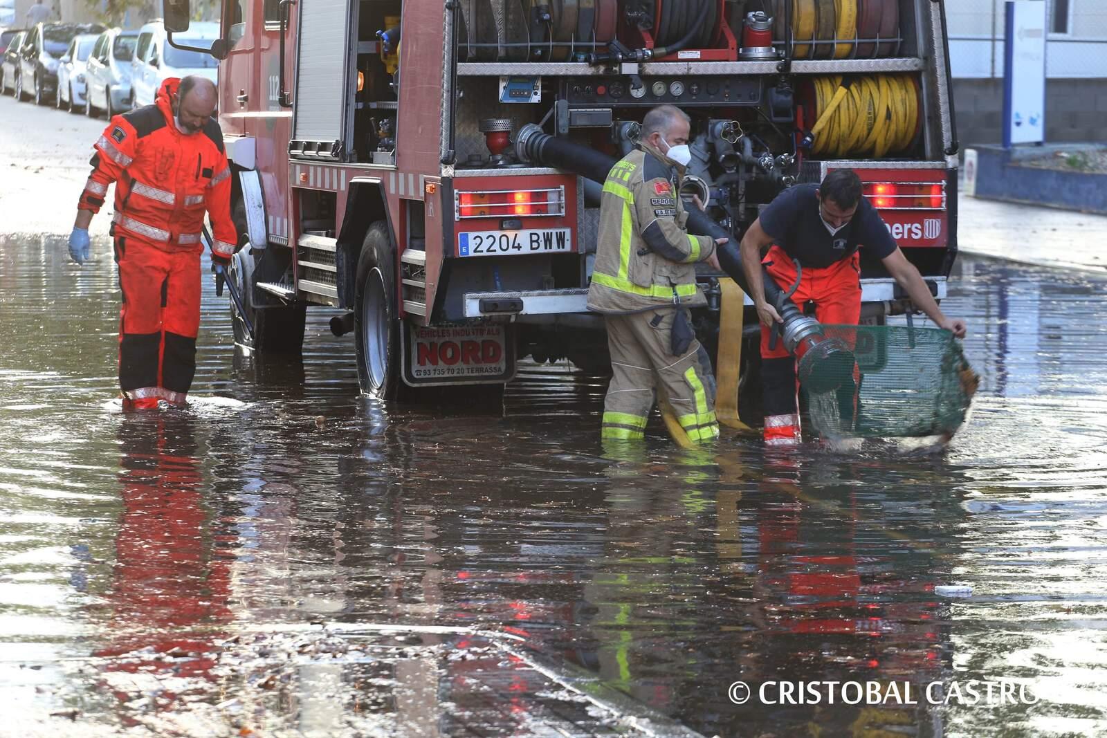 La pluja de diumenge provoca diversos danys a Terrassa