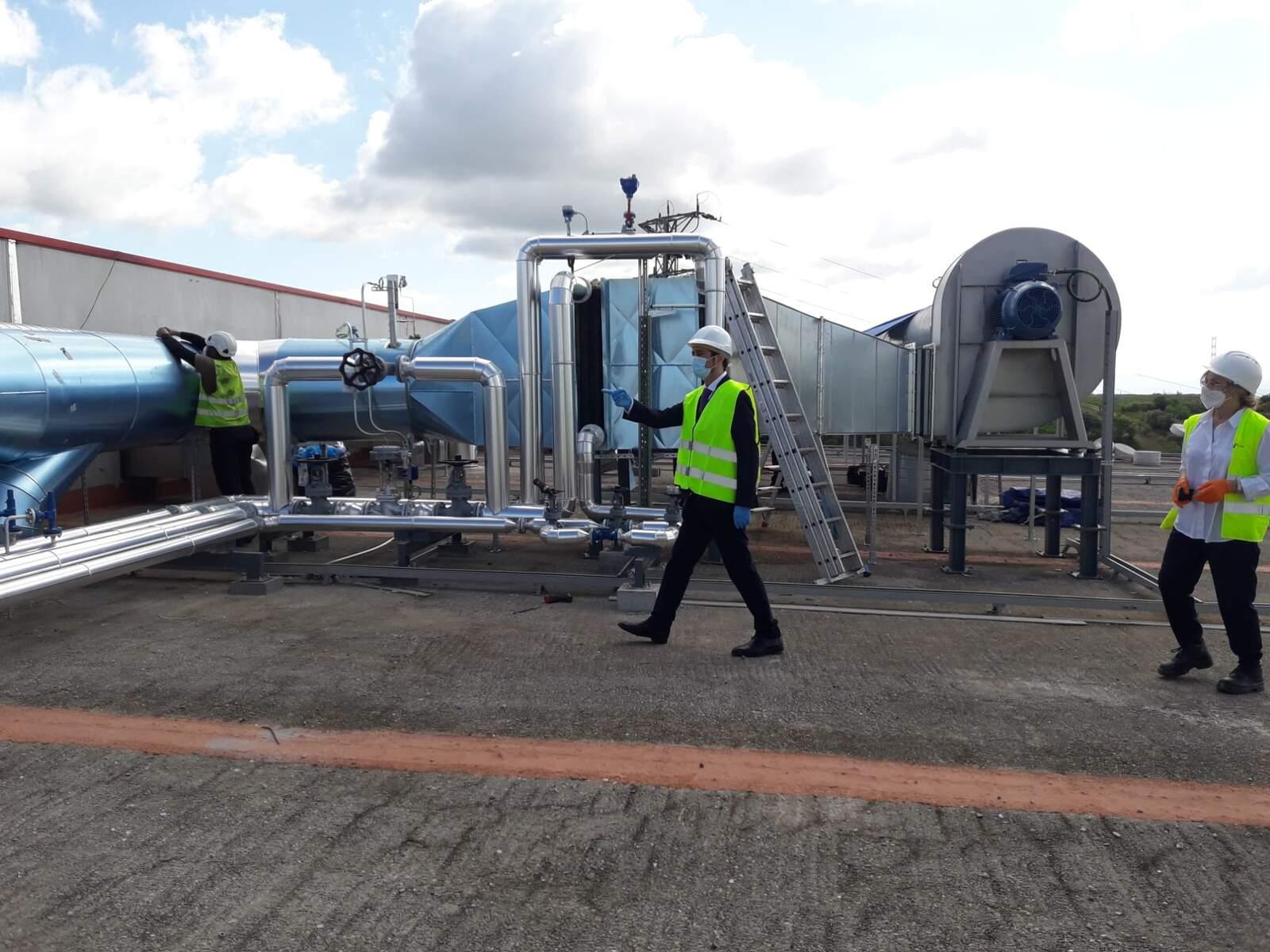 El conseller Damià Calvet visita les obres de millora a planta de compostatge de Can Barba de Terrassa