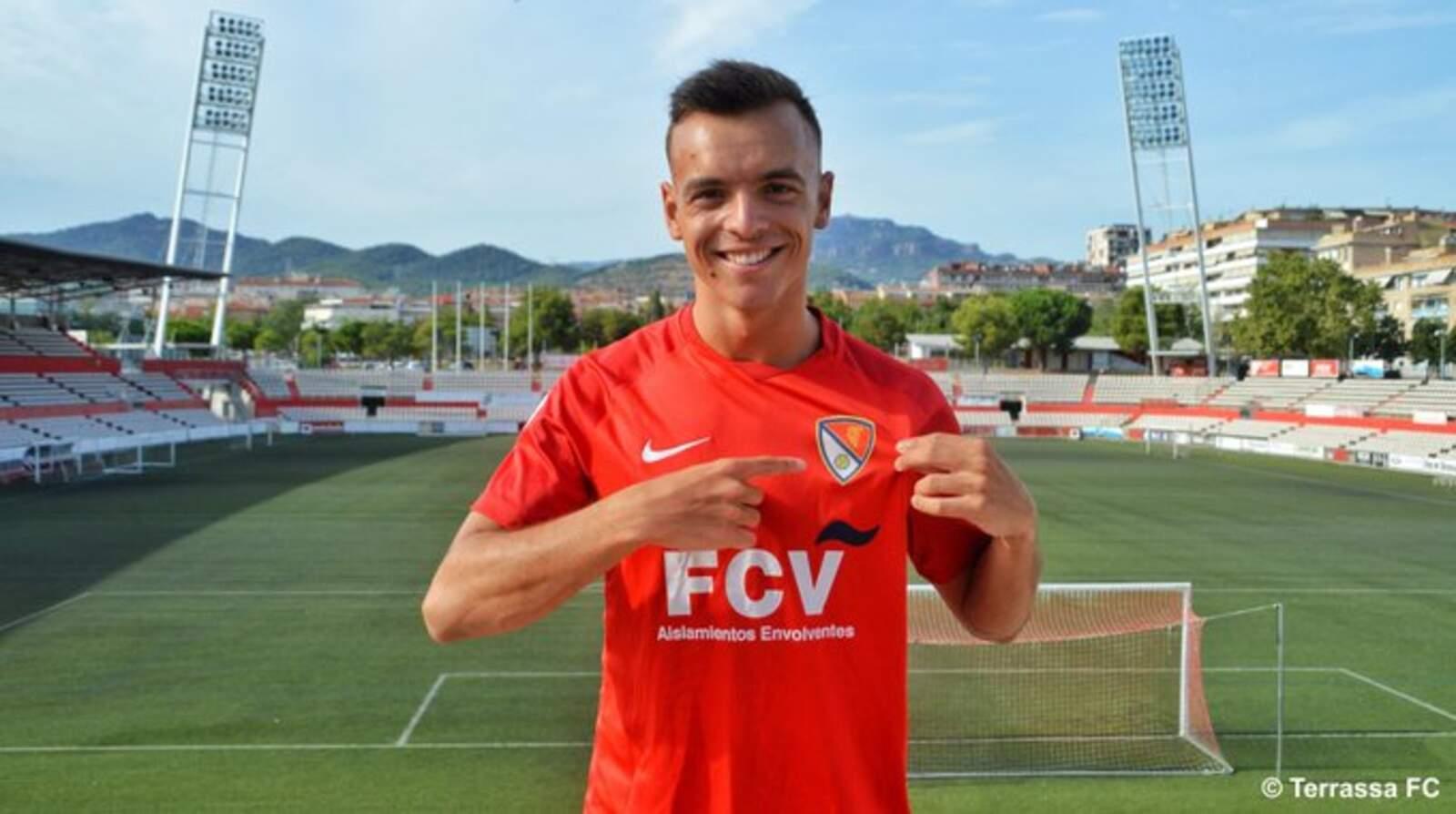 Jose Enrique amb la samarreta del Terrassa
