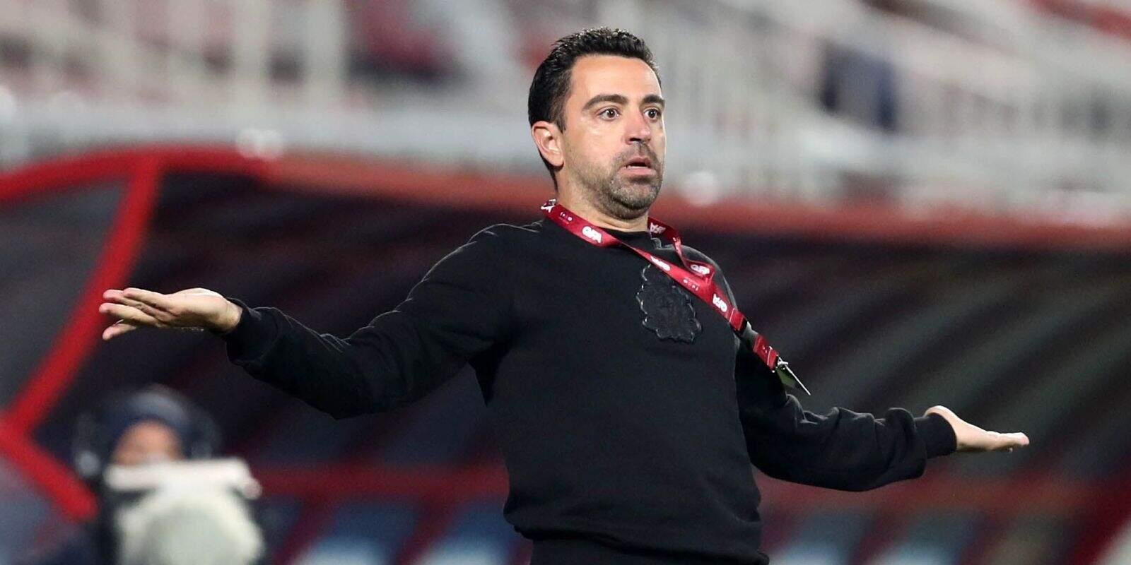 Xavi, durant un partit