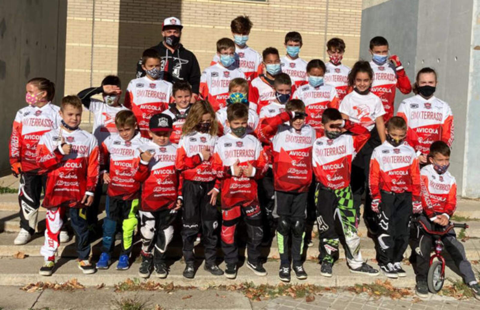 Participants del BMX Terrassa a la Copa Catalunya BMX 2020
