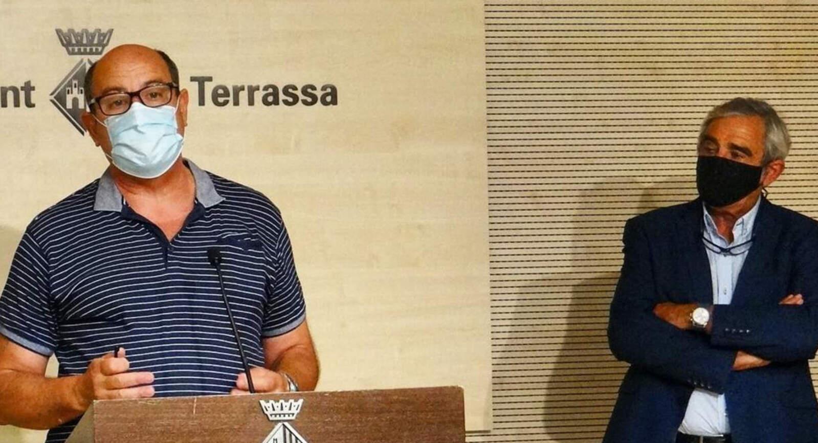 Carles Lázaro i Alfredo Vega, en la roda de premsa sobre Educació