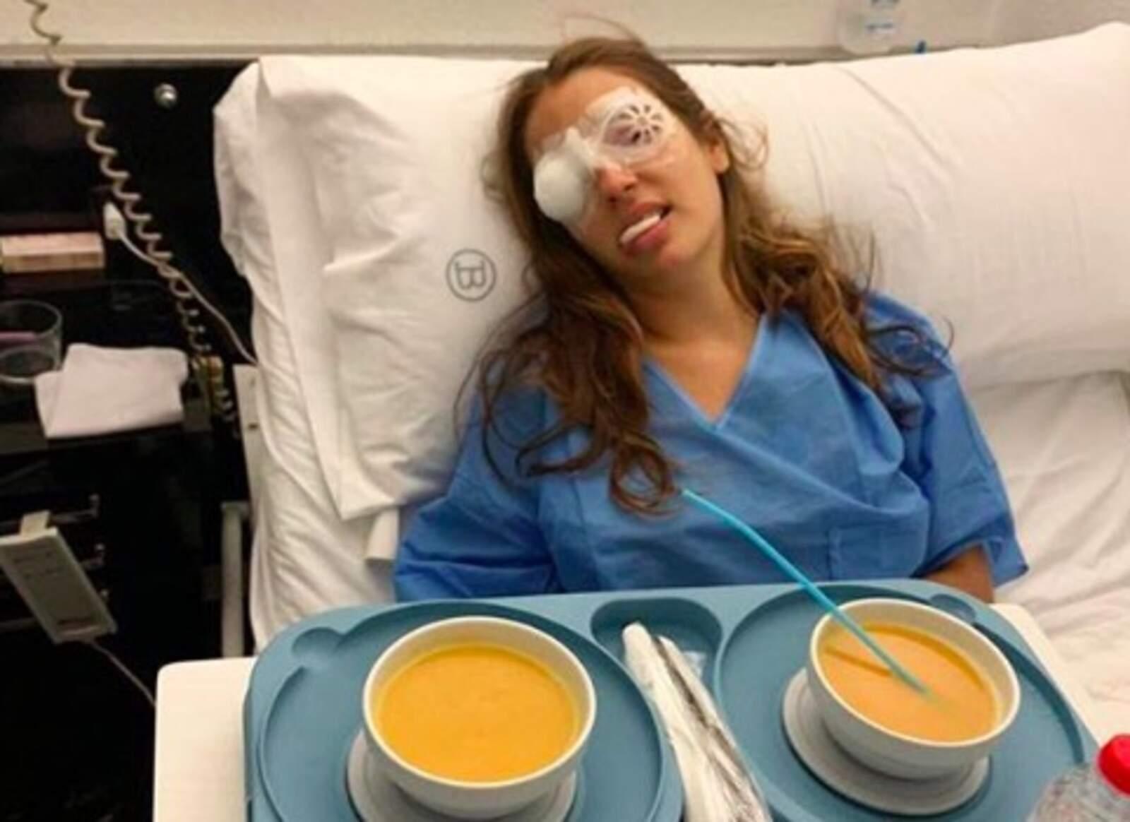 La Marta l'han tornat a operar de l'ull dret