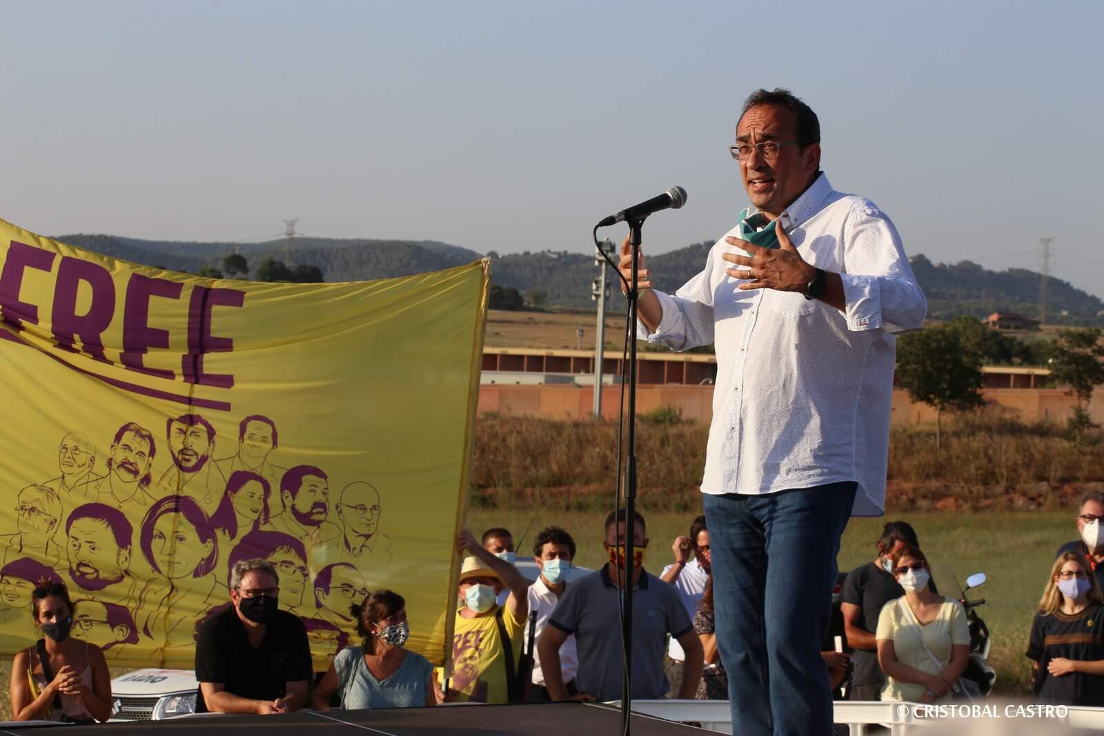 Rull, present en l'acte de Lledoners de reingrés dels presos polítics