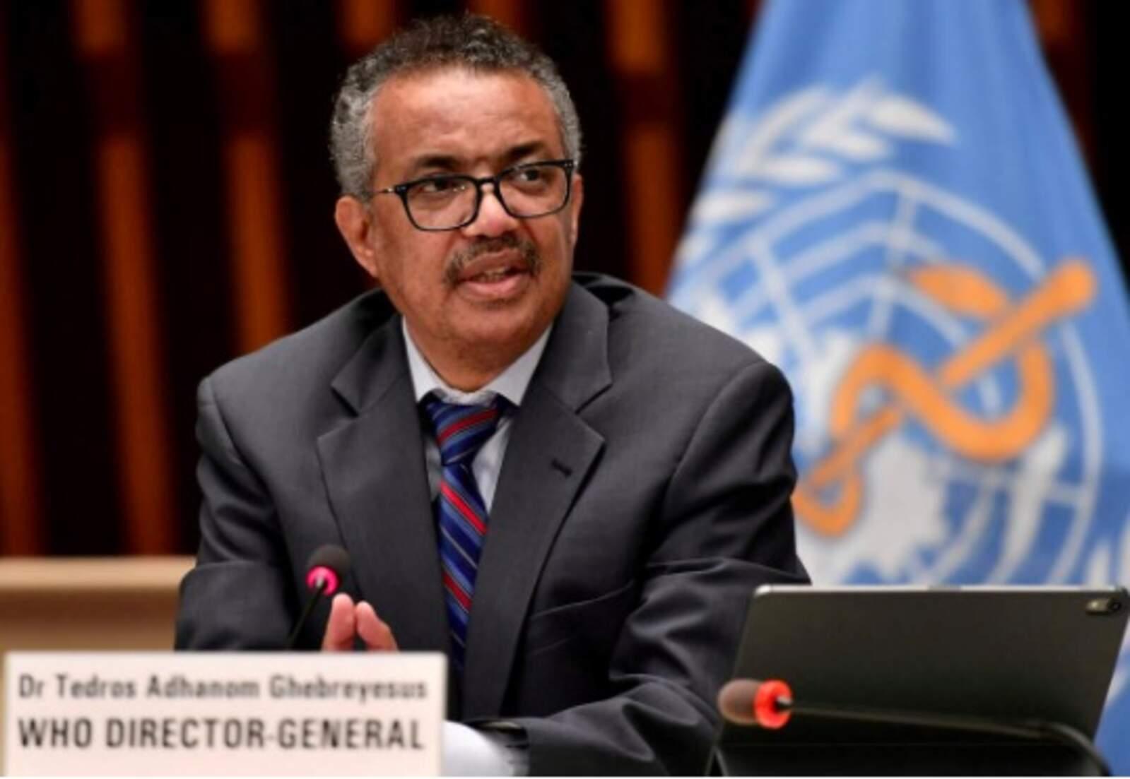 El director general de l'Organització Mundial de la Salut (OMS), Tedros Adhanom Ghebreyesus