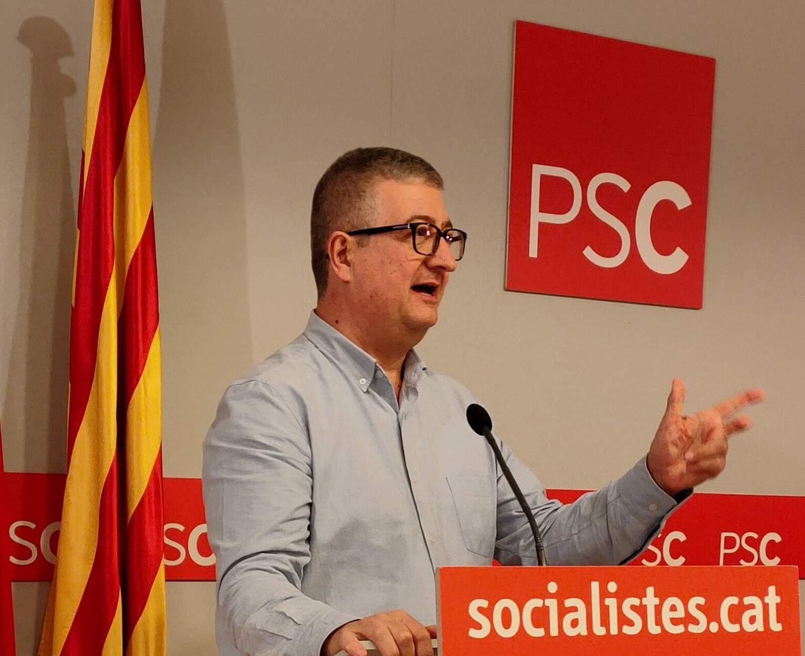 El candidat a primer secretari del PSC Txetxu Sanz