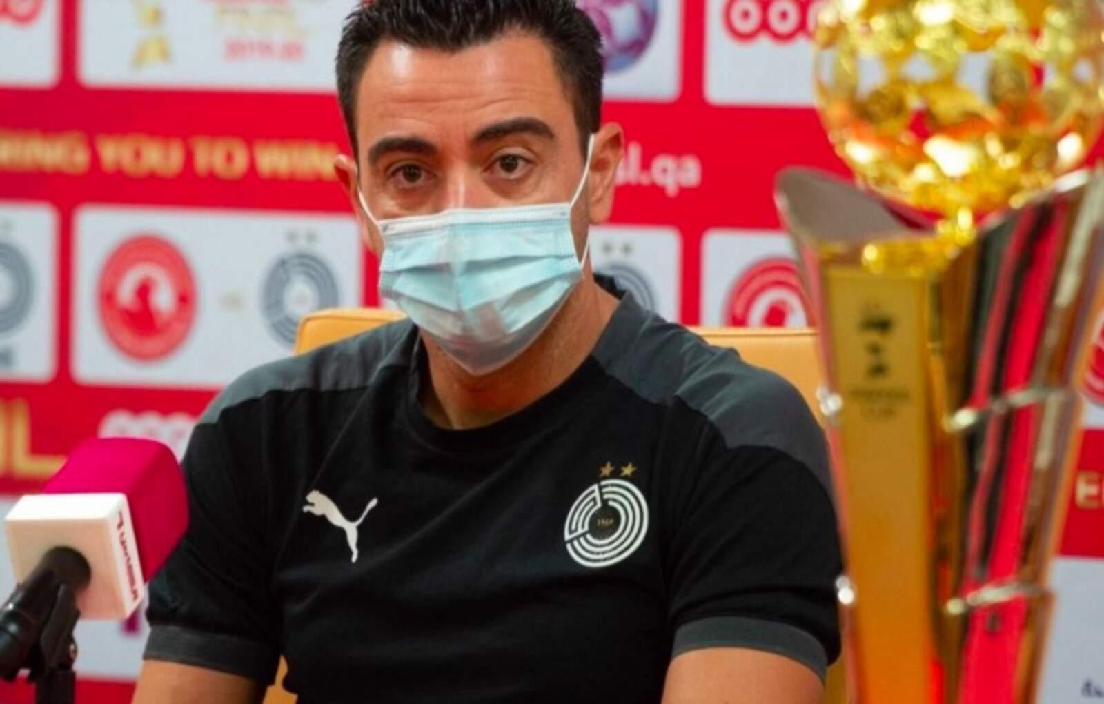 Xavi, amb la QSL Cup