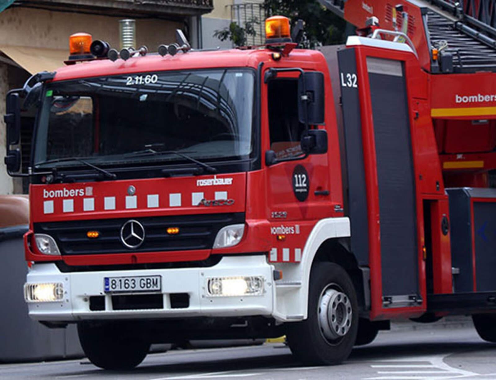 Un camió dels Bombers