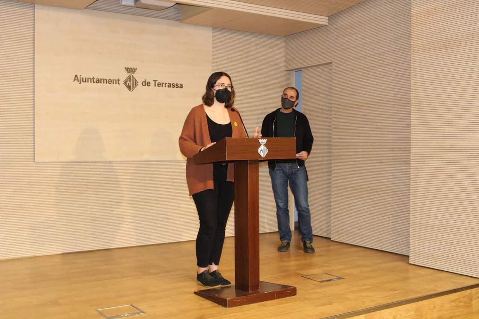Ona Martínez i Alex Monfort han presentat el Pla Local de la Infància i l'Adolescència
