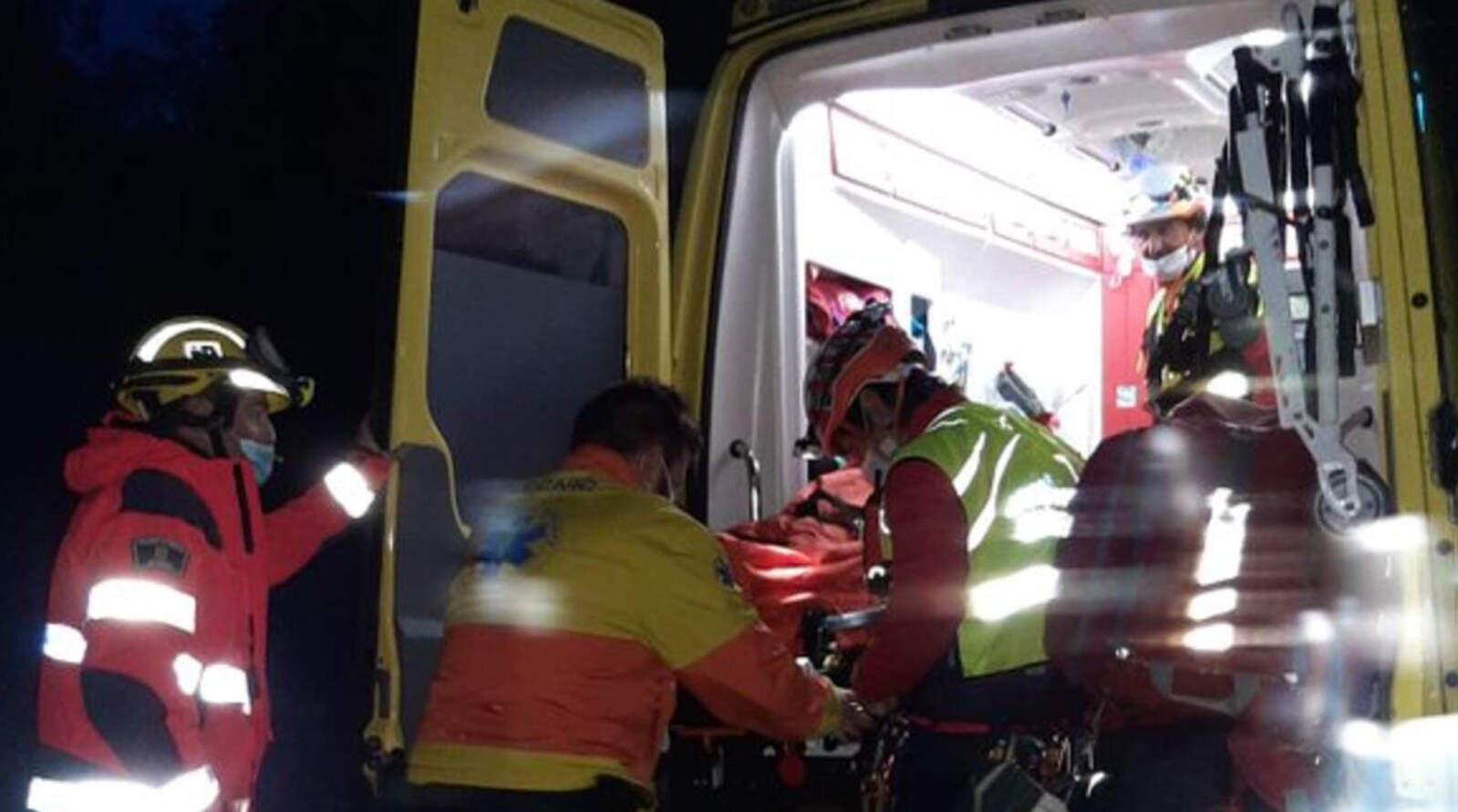 Rescat dels Bombers i SEM a un excursionista ferit