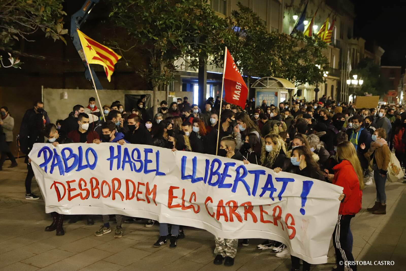 Concentració i manifestació Llibertat Pablo Hasél