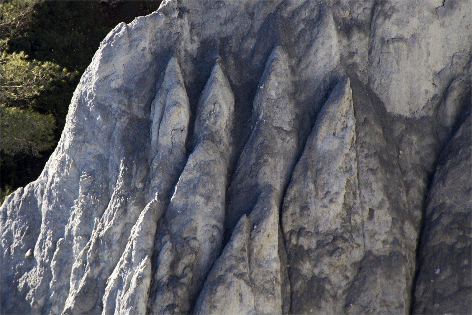 Un detall de les roques, considerades úniques al món