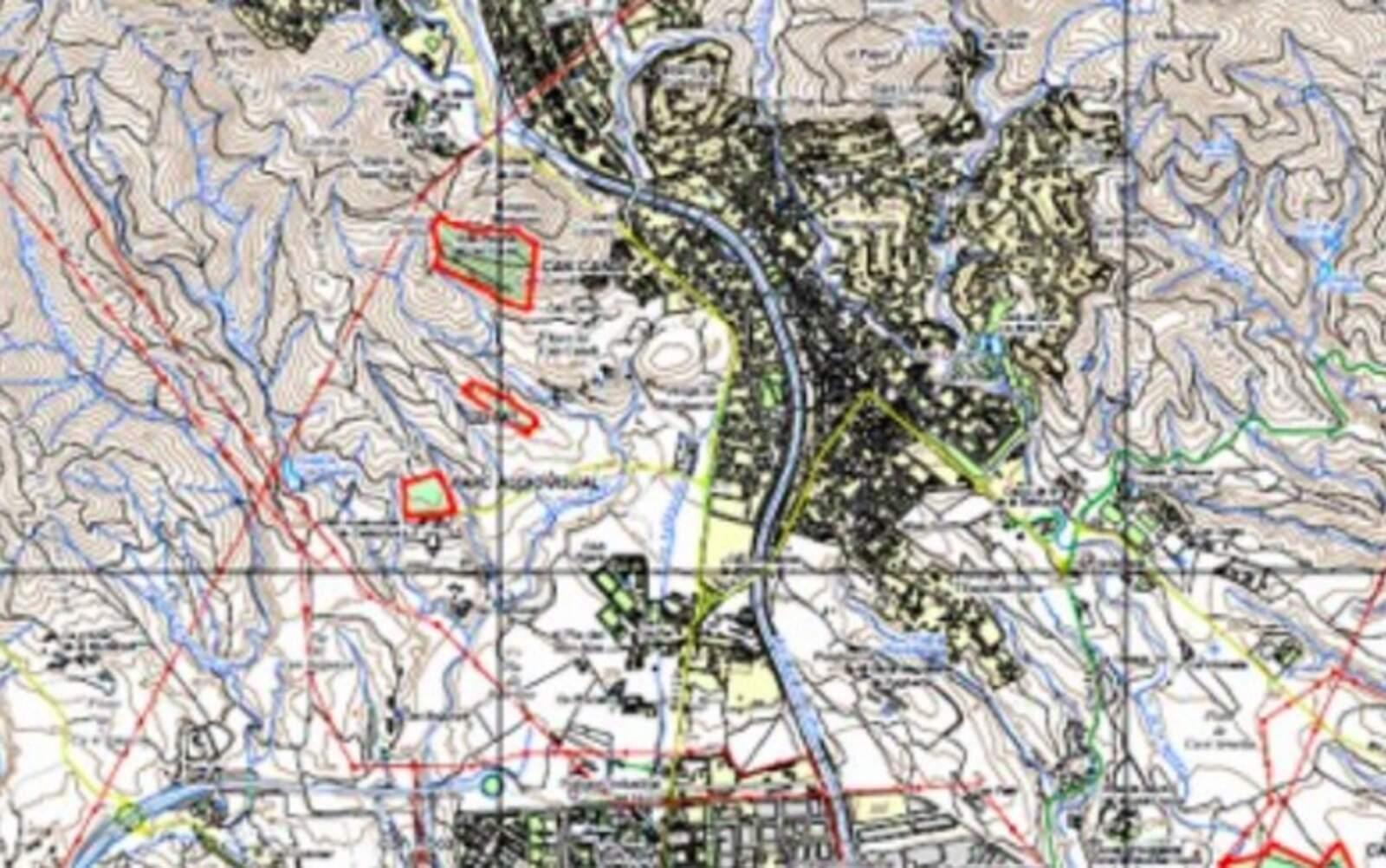 Mapa amb les parcel·les delimitades
