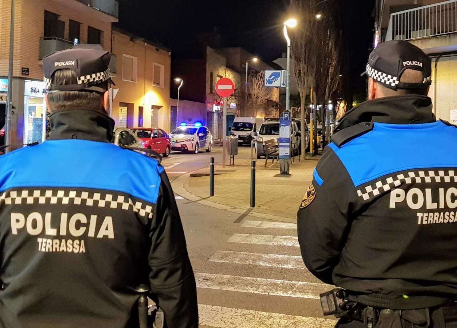 Patrulla dels agents de la Policia Municipal