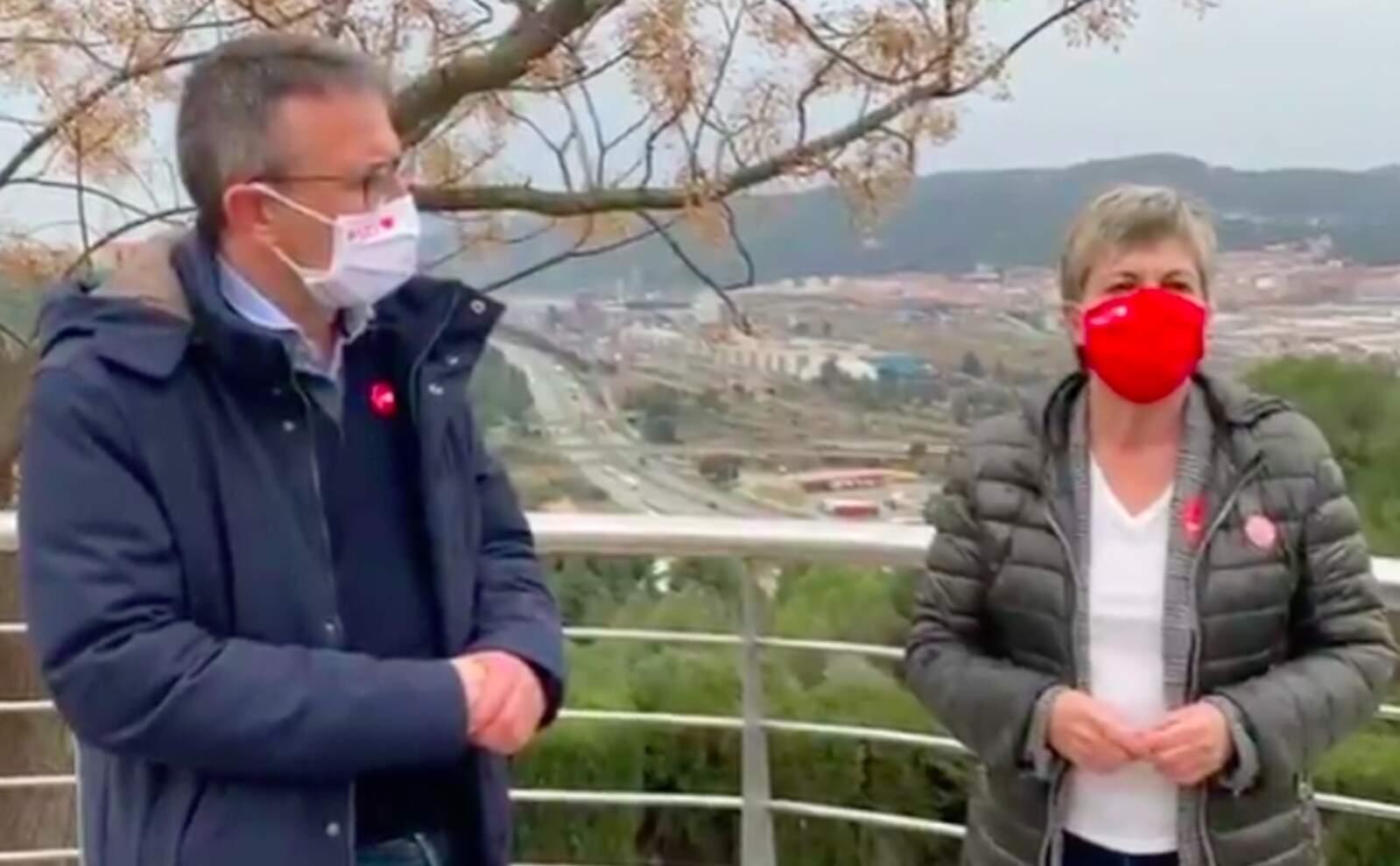 Els dos candidats socialistes Güeto i Candela, han visitat Castellbisbal