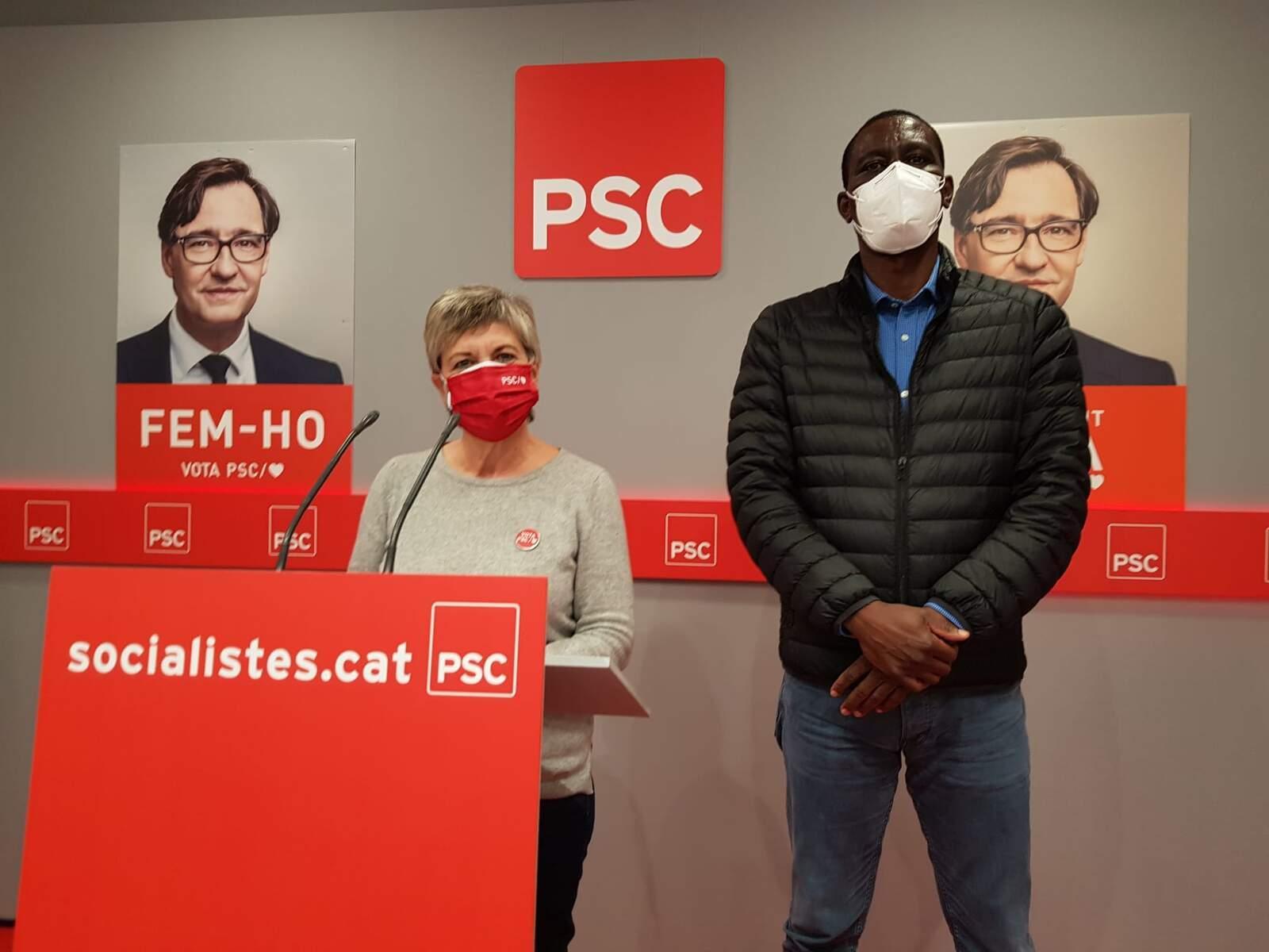 La candidata Eva Candela amb el diputat al Congrés Luc André Diouf