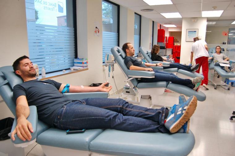 Participants a la donació de sang de Terrassa    Ramon Navarro