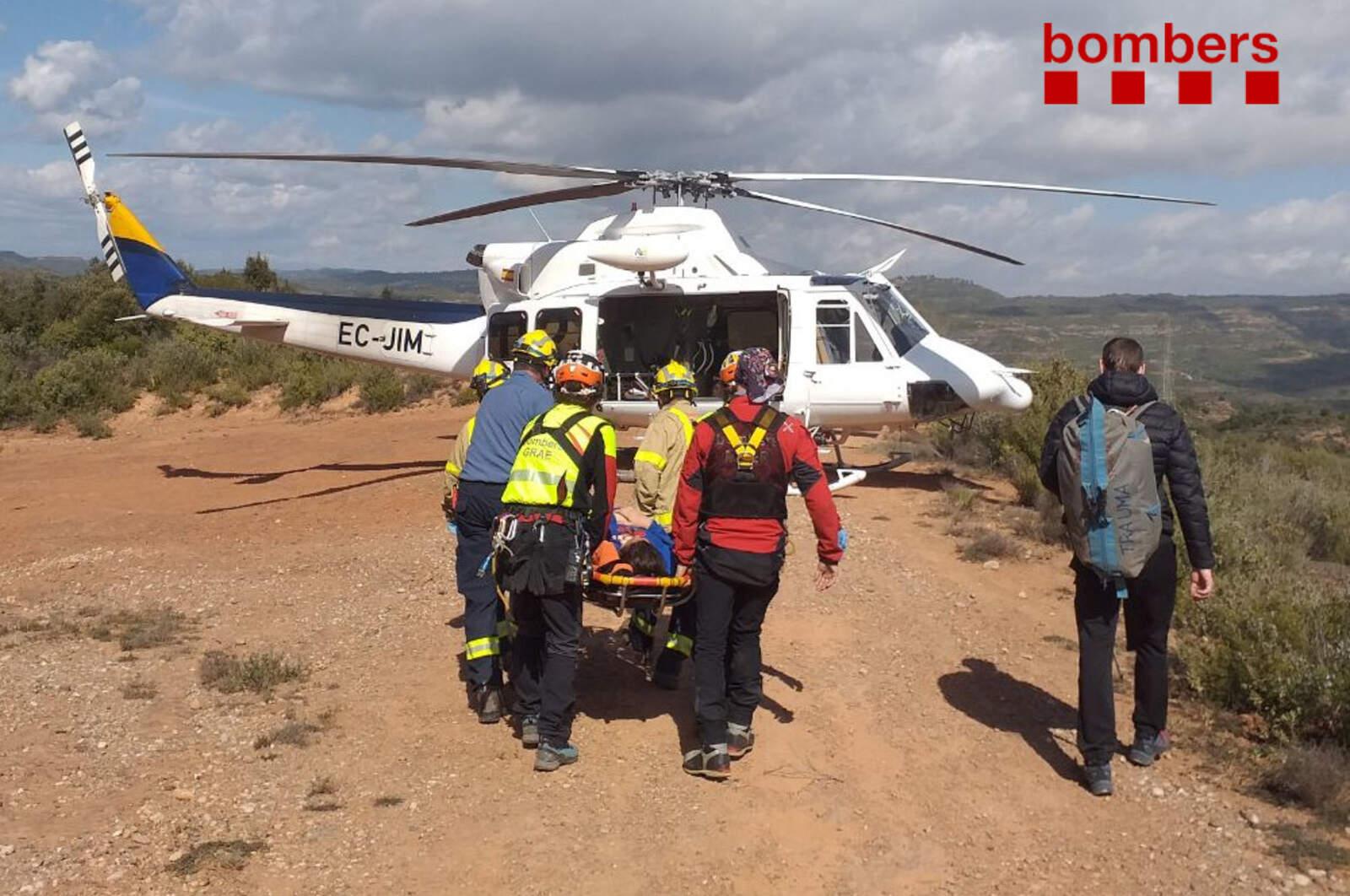 Rescat en helicòpter al Parc Natural