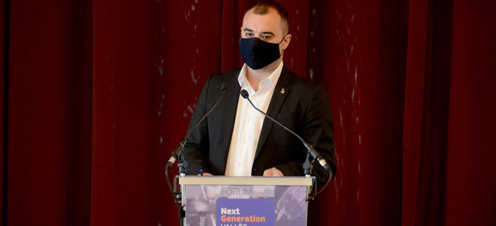L'alcalde de Terrassa, Jordi Ballart, en la jornada Next Generation