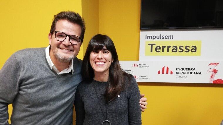 Isaac Albert amb la nova presidenta d'ERC, Xènia Albà    ERC Terrassa