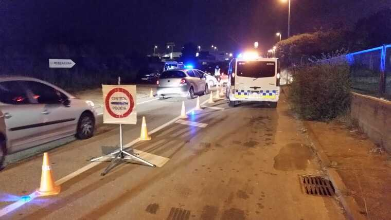 Control policial a la sortida de Terrassa  | Policia Municipal de Terrassa