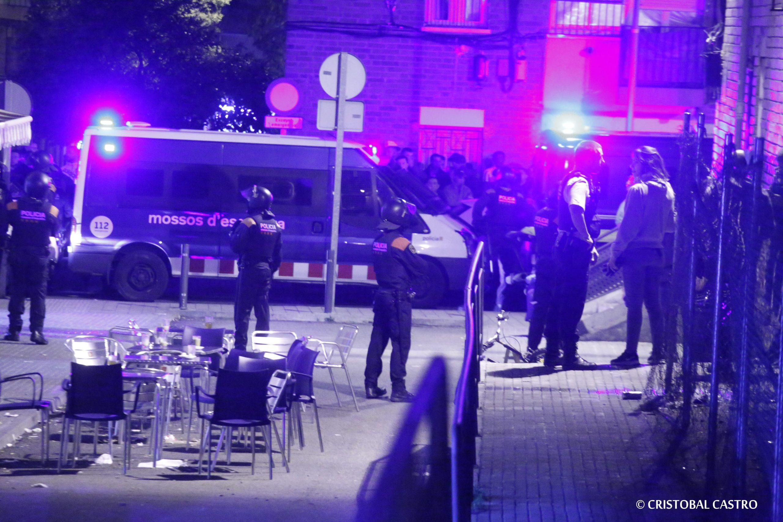 Macrodesplegament policial a Ca n'Anglada