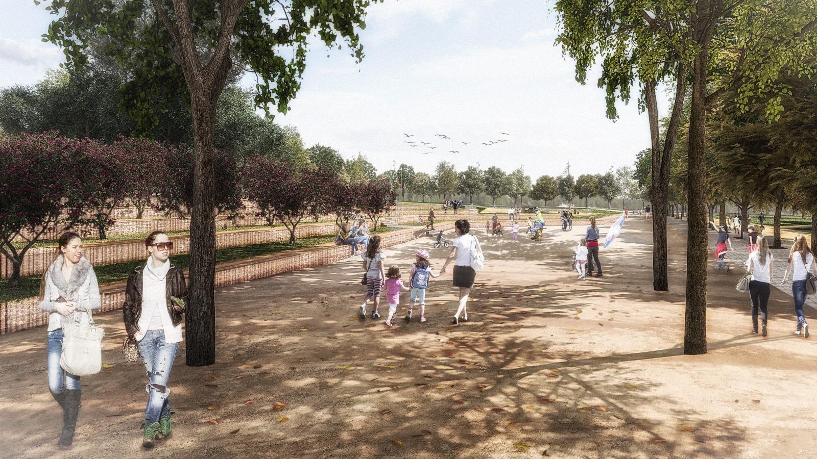 Projecció del futur Parc de la República de Terrassa | Aj. Terrassa