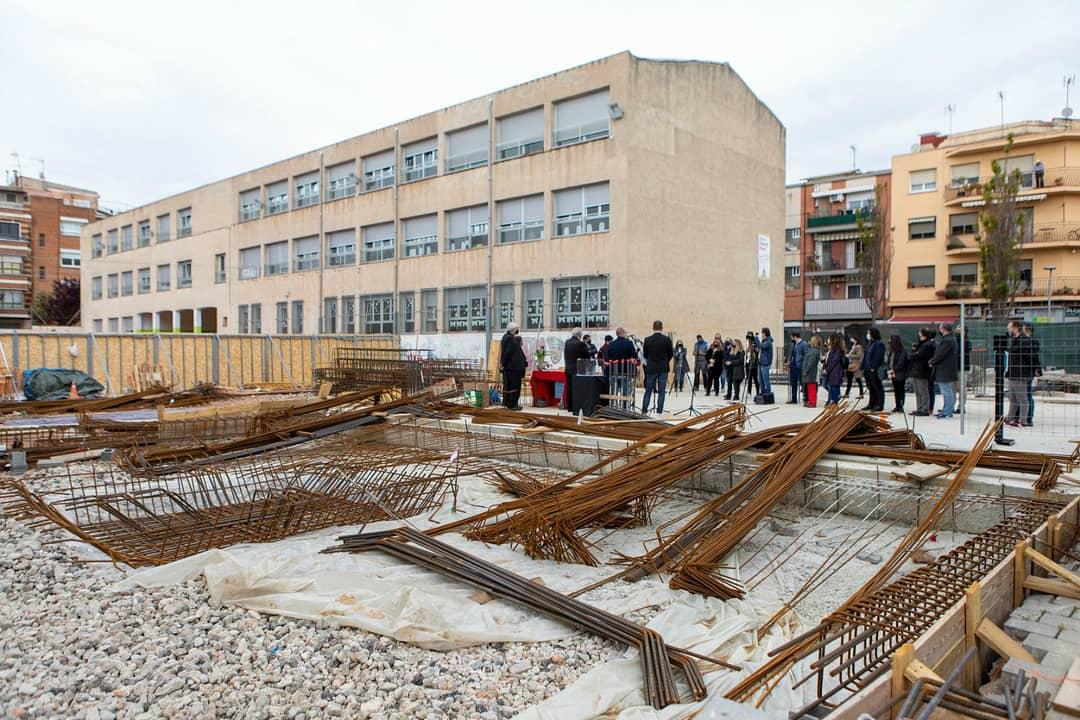 Obres d'ampliació a l'escola Ramon Pont de Terrassa   Rafel Casanova BCF