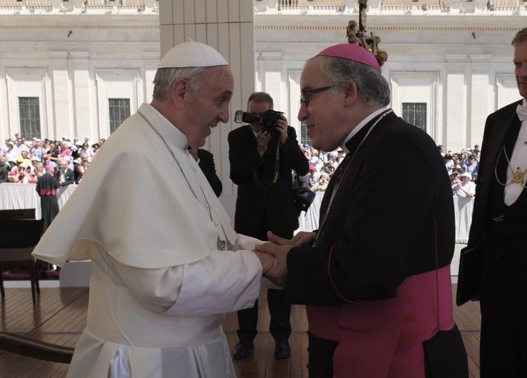 El Papa Francesc i Josep Àngel Saiz Meneses
