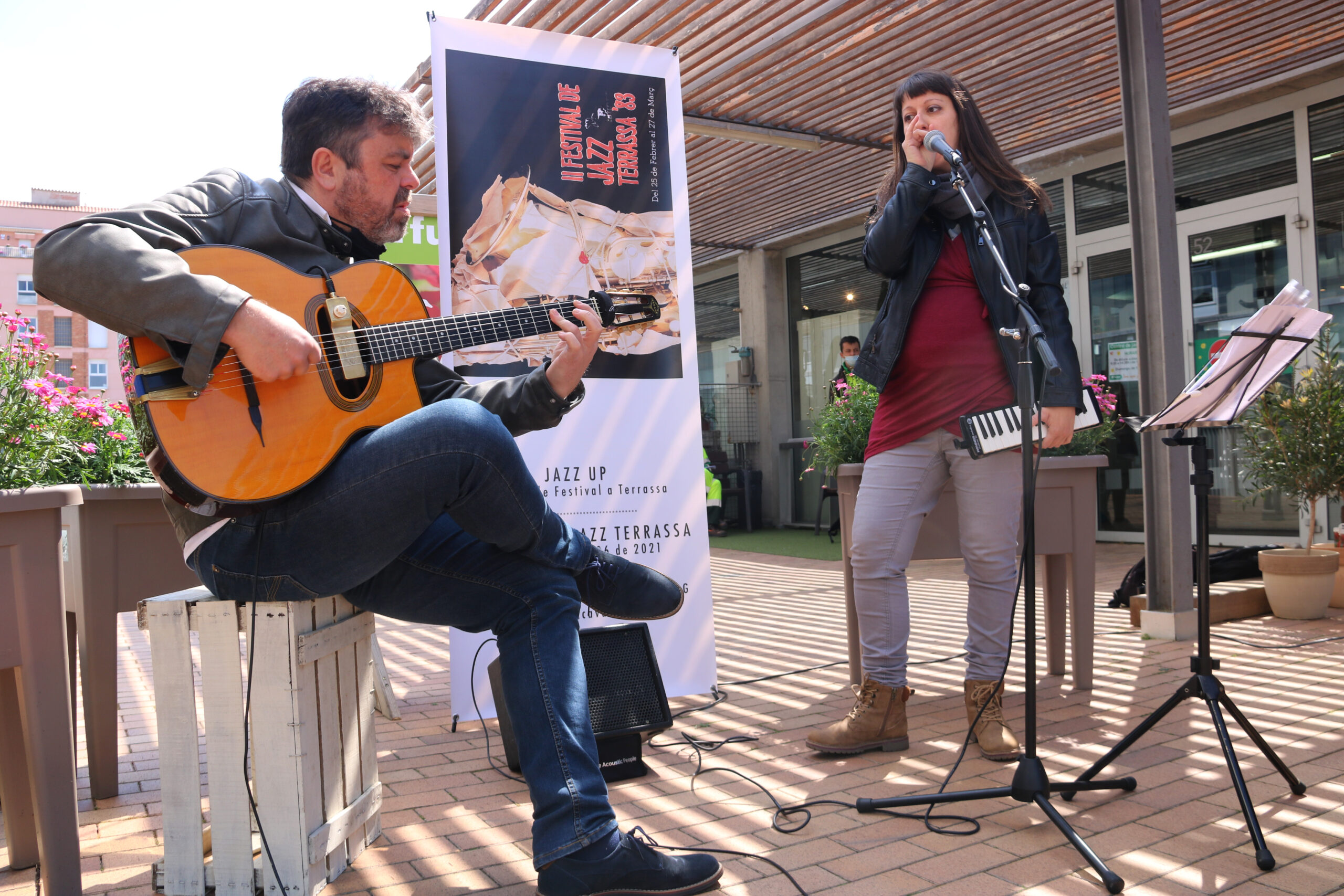 Gipsy Nur Projecte en la seva actuació al Jazz Up, com a prèvia del Festival de Jazz de Terrassa/ACN