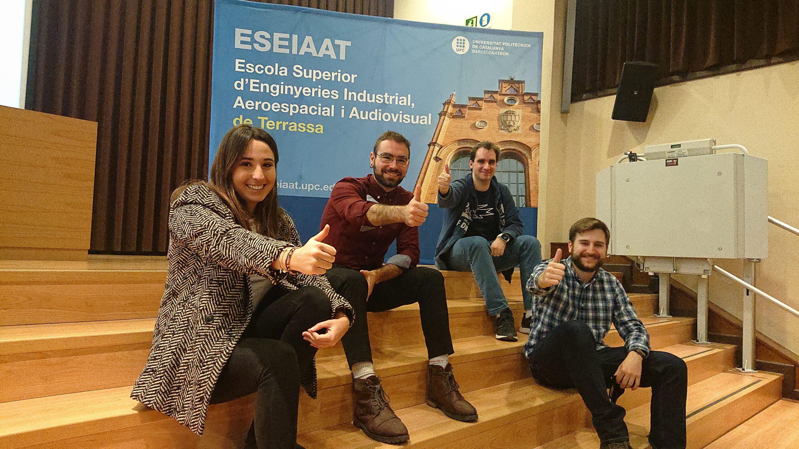 Alguns dels estudiants de l'ESEIAAT coordinadors dels projectes de missions a Mart
