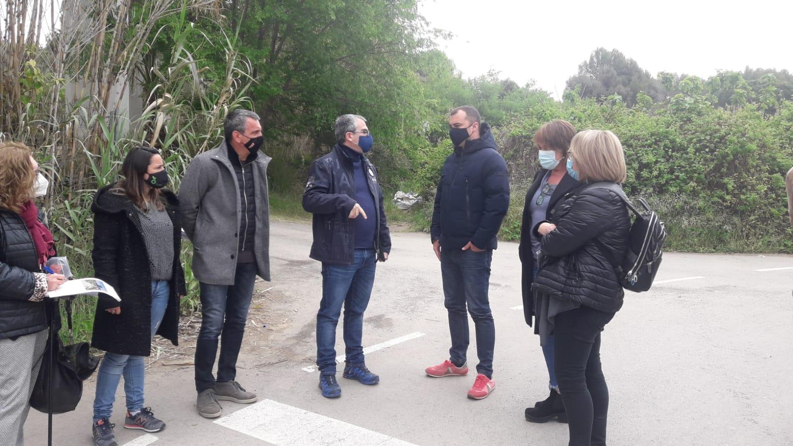 Visita al nou sistema de sensors a la Riera del Palau   Joan Manel Oller