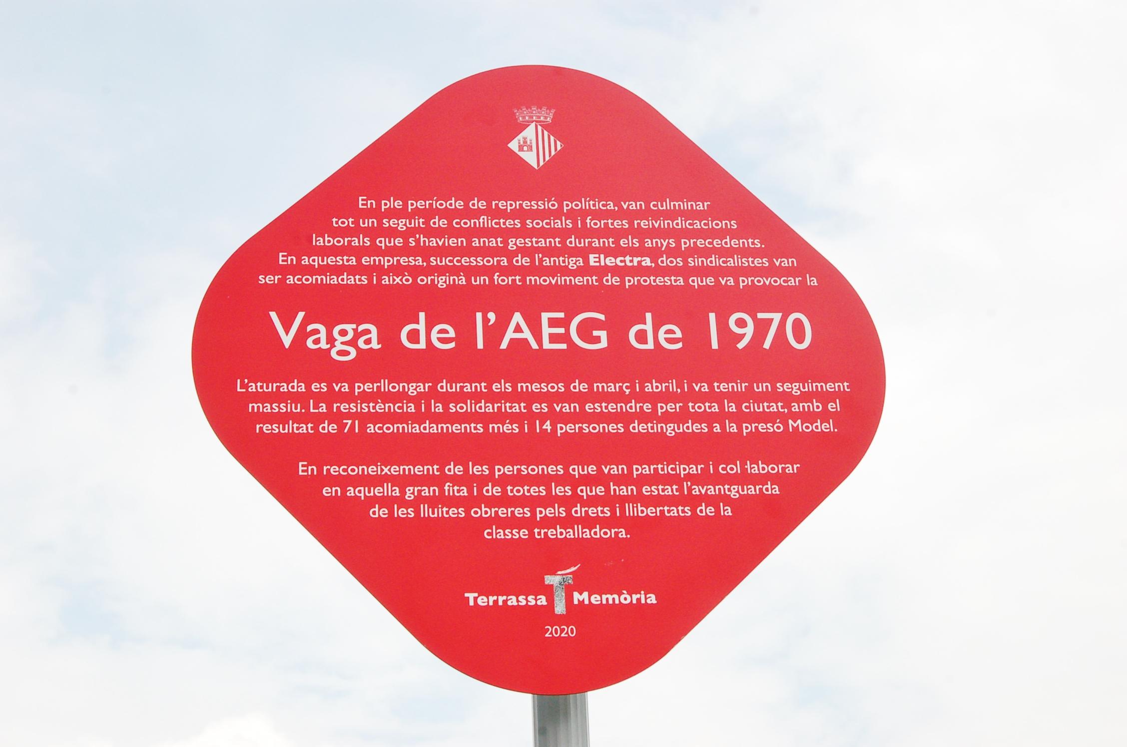 Acte de commemoració del 50è aniversari de la vaga de l'AEG | Ramon Navarro