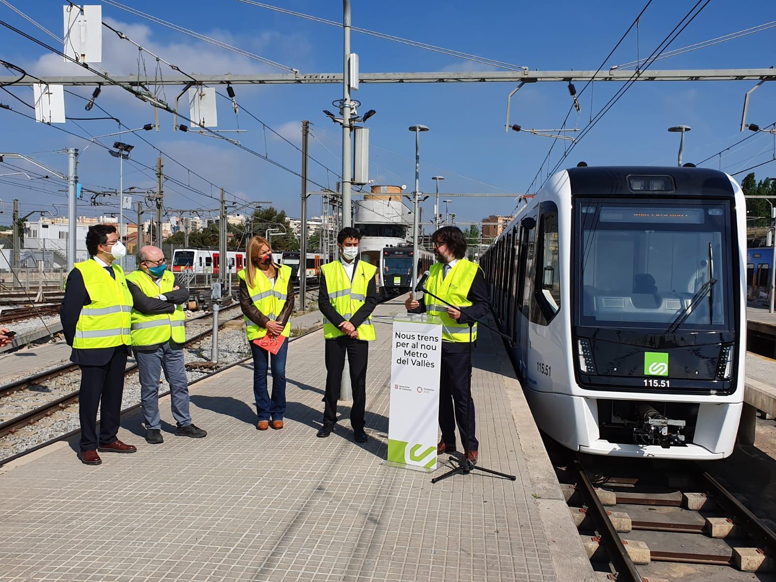 Presentació del primer dels 15 nous trens per a la línia Vallès | FGC