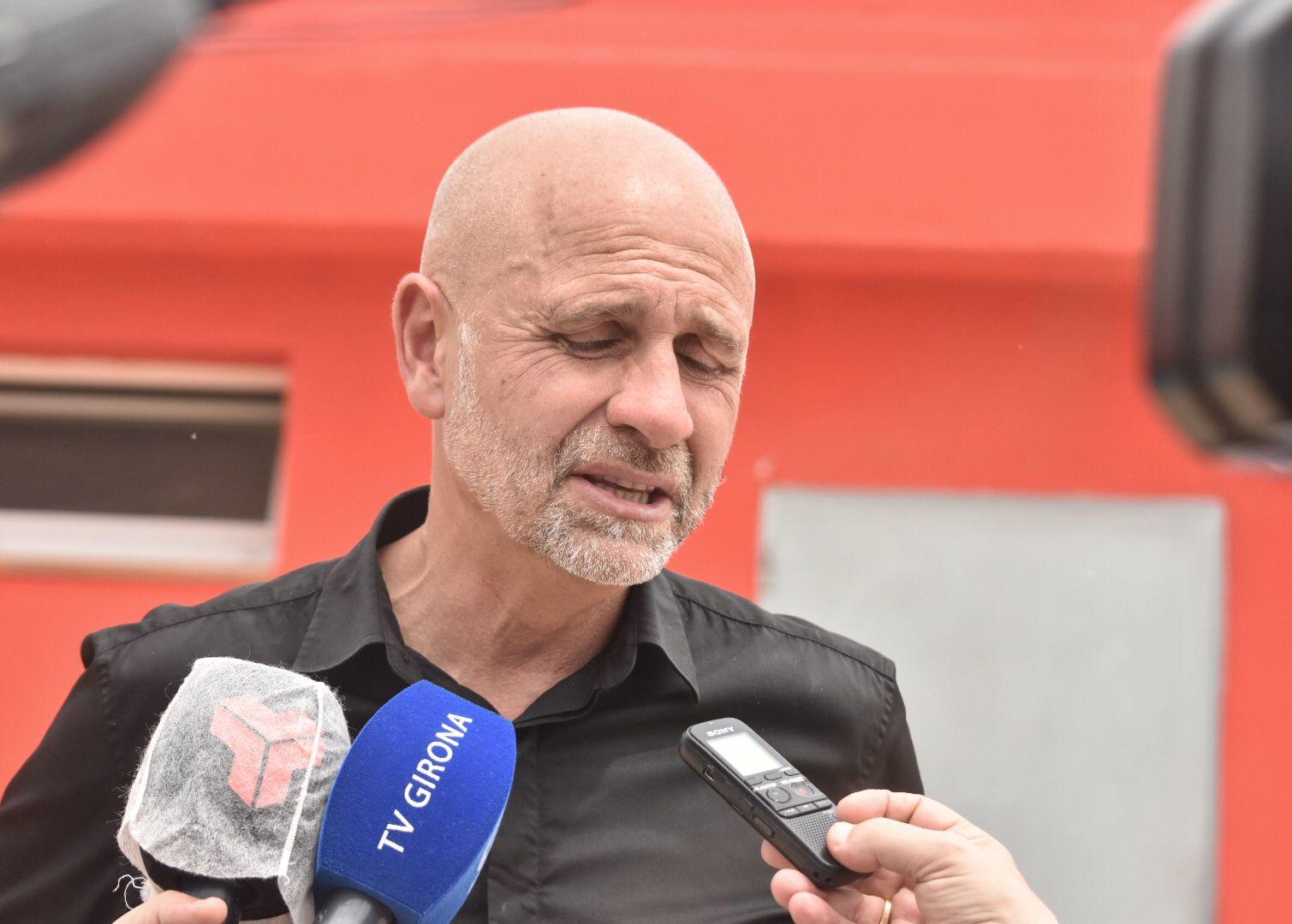 L'entrenador del Terrassa, Juanjo Garcia/Arnau Alcalà
