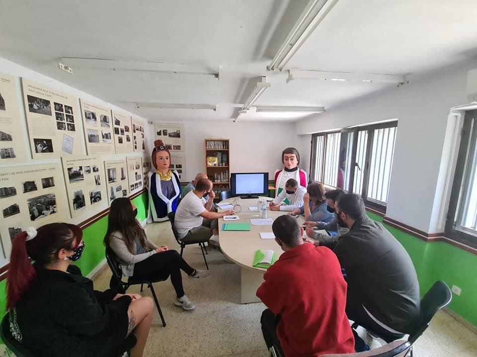 Reunió de l'AV de Sant Llorenç amb l'alcalde i  regidors de govern   Aj. Terrassa